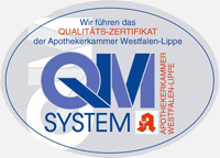 QMS Logo der Rosen Apotheke
